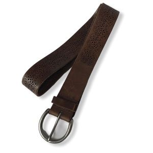 Vintage Boho Perforated Leather Belt